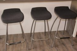 re-upholstered bar stools from freedom