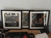 These frames were purchased from Big w for $15 each and the photos were $10 each to enlarge from a regular sized photo.