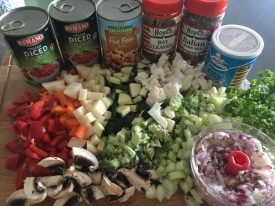 ingredients that you will need for vegetable soup